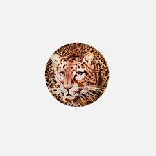 modern leopard print Mini Button