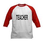 Teacher (Front) Kids Baseball Jersey