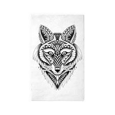 Ornate Foxy Wolf 3'x5' Area Rug