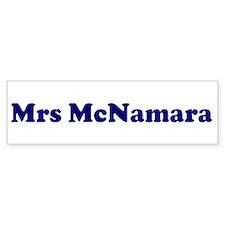 Mrs McNamara Bumper Car Sticker