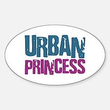 Urban Princess Oval Decal