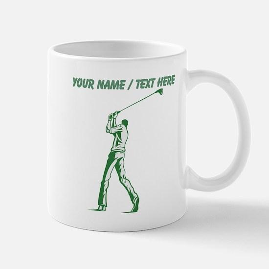 Custom Tall Golfer Mugs