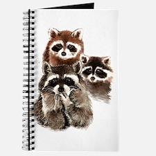 Cute Watercolor Raccoon Animal Family Journal