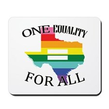 Texas one equality blk font Mousepad