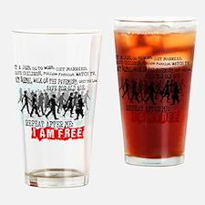 I am free Drinking Glass