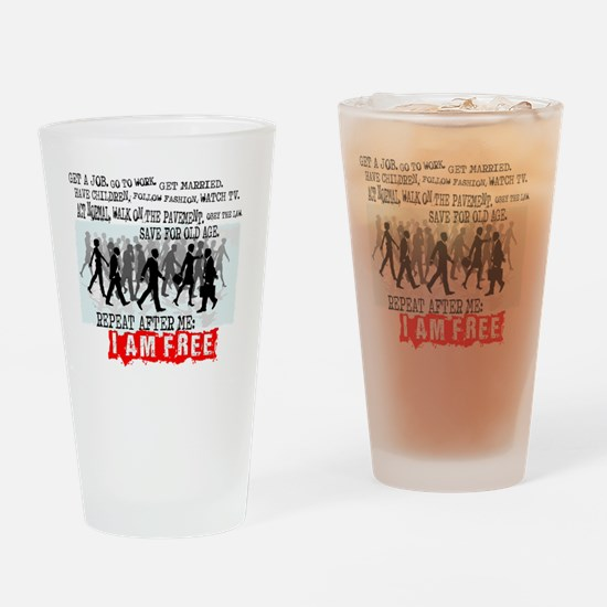 I am free Drinking Glass
