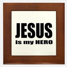 Jesus is Hero Framed Tile