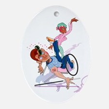 Handicap Slap! Oval Ornament