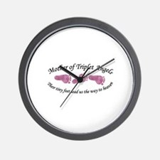Mother of Triplet Angels GGG Wall Clock