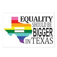 Equality should be bigger in Texas blk font Postca