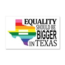 Equality should be bigger in Texas blk font Car Ma