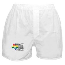 Equality should be bigger in Texas blk font Boxer