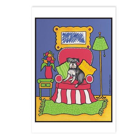 """Sitting Pretty"" Schnauzer Postcards (Pack of 8)"