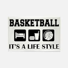 Sleep Eat Play Basketball Rectangle Magnet