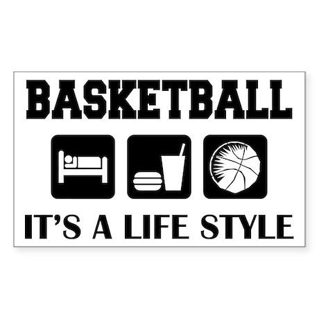 Sleep Eat Play Basketball Rectangle Sticker