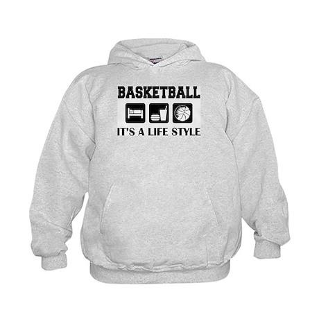 Sleep Eat Play Basketball Kids Hoodie