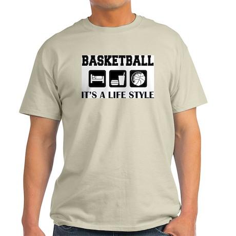 Sleep Eat Play Basketball Ash Grey T-Shirt