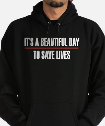 Grey's Anatomy It's A Beautiful Day Hoodie (dark)