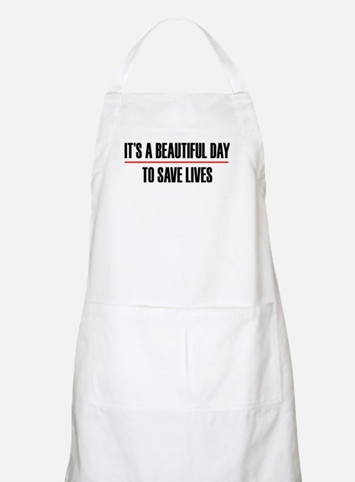 Grey's Anatomy It's A Beautiful Day To Light Apron