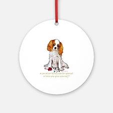 Cavalier King Charles Spaniel Valentine Ornament (