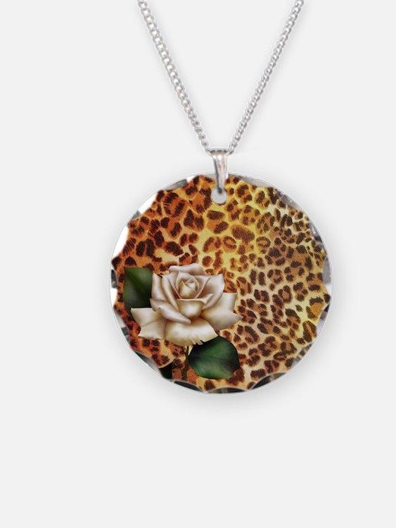 rose leopard print  Necklace