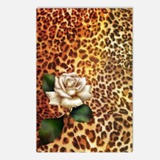 rose leopard print  Postcards (Package of 8)