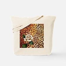 rose leopard print  Tote Bag