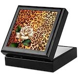 Animal print Square Keepsake Boxes