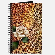 rose leopard print  Journal