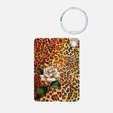 rose leopard print  Keychains