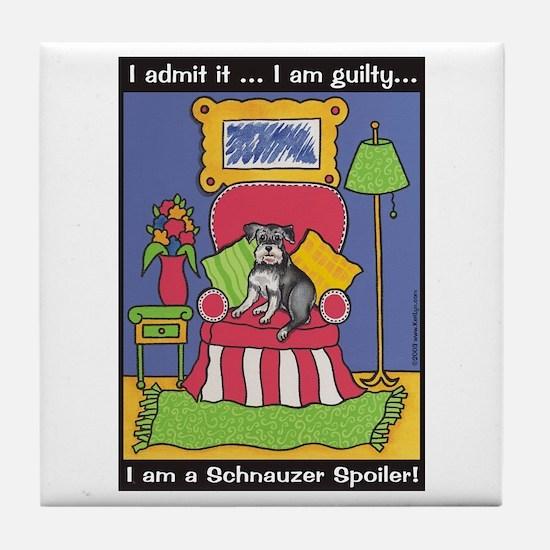 """Schnauzer """"Spoiler"""" Tile Coaster"""