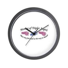 Mother of Triplet Angels GBG Wall Clock