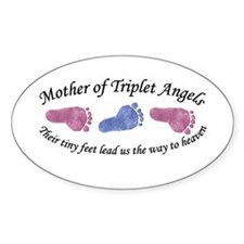 Mother of Triplet Angels GBG Oval Decal