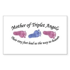 Mother of Triplet Angels GBG Rectangle Decal