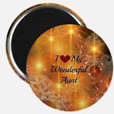 I Love My Wonderful Aunt - Golden Glow Chri Magnet
