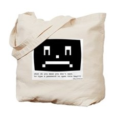 Password protection Tote Bag