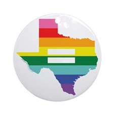 Texas equality Ornament (Round)