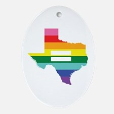 Texas equality Ornament (Oval)