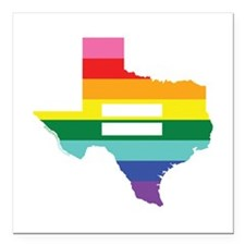"Texas equality Square Car Magnet 3"" x 3"""