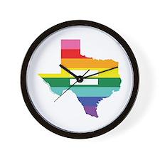 Texas equality Wall Clock