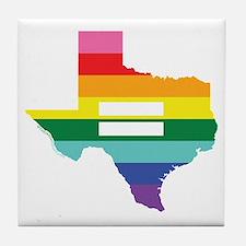 Texas equality Tile Coaster