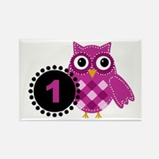 One Year Old Adorable Owl Magnets