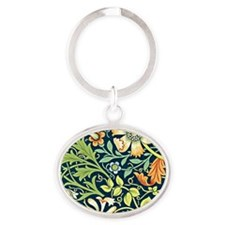 Compton, William Morris vintage flor Oval Keychain