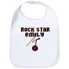 """Rock Star Emily"" Bib"
