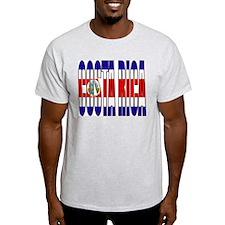 Costa Rica Ash Grey T-Shirt