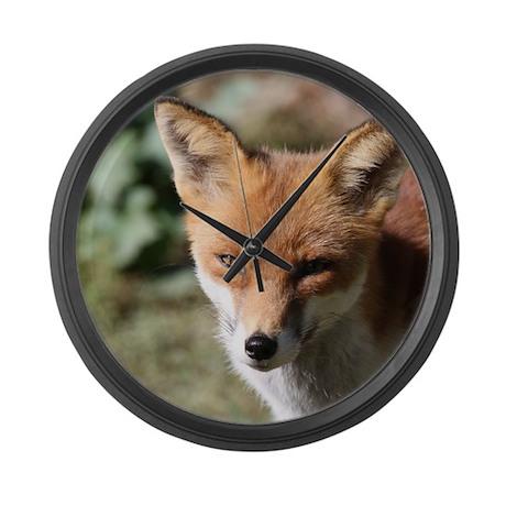 Fox001 Large Wall Clock