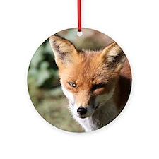 Fox001 Round Ornament