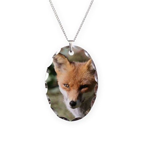 Fox001 Necklace Oval Charm