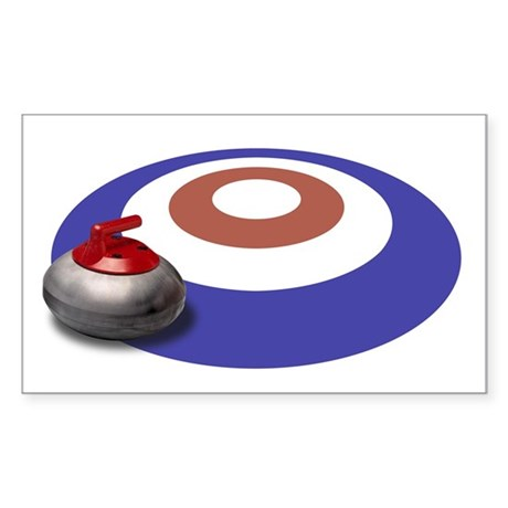CURLING Rectangle Sticker