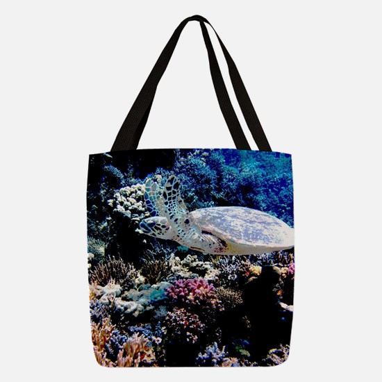 Sea Turtle Polyester Tote Bag